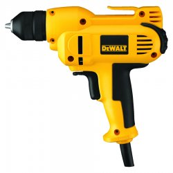 "Dewalt - DWD115K - 3/8"" Electric Drill Kit, 8.0 Amps, T-Handle Handle Style, 0 to 2500 No Load RPM, 120VAC"
