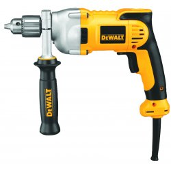 "Dewalt - DWD210G - 1/2"" Electric Drill, 10.0 Amps, Pistol Grip Handle Style, 0 to 1250 No Load RPM, 120VAC"