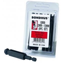 """Bondhus - 10899 - Bhx9mm 9pc. 3"""" Metric Balldriver Power Bit S, Set"""