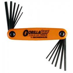 Bondhus - 12550 - Bondhus 12550 GorillaGrip Set of 12 Hex Fold-up Keys, sizes 5/64-5/32
