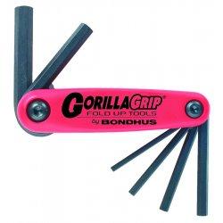 Bondhus - 12592 - GorillaGrip Fold Ups - ProGuard Hex End - Red - Steel - Corrosion Resistant - 1