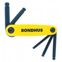 Bondhus - 12897 - 5-Piece Ballpoint Metric-Hex Key Set, 5-10mm