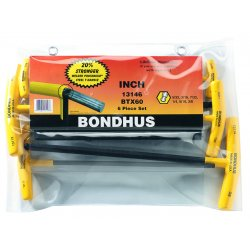 Bondhus - 13146 - 6-Piece T-Handle Balldriver Set, 5/32-3/8""