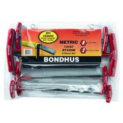 Bondhus - 13187 - 8-Piece T-Handle Balldriver Set, Metric Sizes, 2-10mm