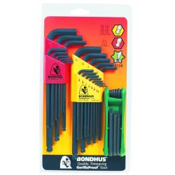 Bondhus - 14138 - Triple Pack L-wrench & Fold-up Set Combination