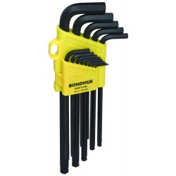 "Bondhus - 16037 - Set 13 Balldriver L-wrenches .050-3/8"" Xl"