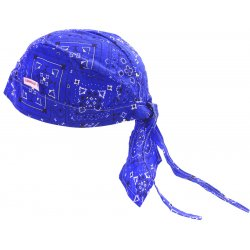 Comeaux Caps - 7000-ROY - Cc 7000-roy Royal Blue Bandanna Doo Rag Fabric, Ea