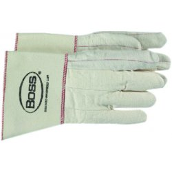 Boss / Cat Gloves - 1BC21701J - White Double Palm Nap Out Glove Rubberized, Pr