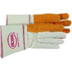 Boss / Cat Gloves - 1BC28572 - Large 2-ply Quilted Fleece Out Palm Welders Glo, Pr