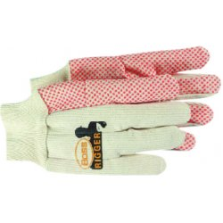 Boss / Cat Gloves - 1BP5520 - 10-oz. Orange Dot Glove2-ply 100 Percent Cotton, Pr
