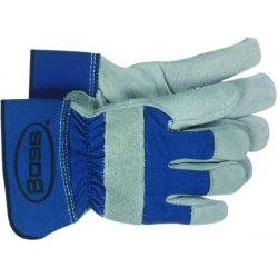 Boss / Cat Gloves - 1JL4095UL - Leather Palm Glove Rubberized Safety Cuff