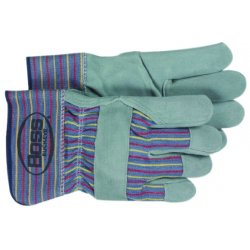 Boss / Cat Gloves - 1JL9465 - Side Leather Palm Glovessafety Cuff Leather Tip, Pr
