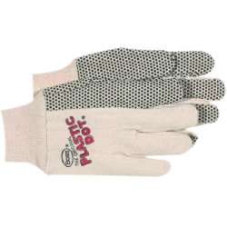 Boss / Cat Gloves - 1JP5501 - 10oz Canton Flannel Economy Plastic Dot