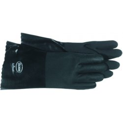 "Boss / Cat Gloves - 1SP0714 - 14"" Full Coated Black Pvc Wet Grip Gl, Pr"
