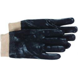 "Boss / Cat Gloves - 1SP8712 - Full Coated Black Pvc 12"" Smooth Grip Glove"