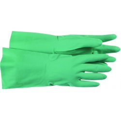 Boss / Cat Gloves - 1UH0027L - Flocked Lined Green Nitrile 16 Gage Glove