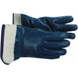 Boss / Cat Gloves - 1UH7365L - Heavy Weight Blue Nitrile Glove Jersey Lined, Pr