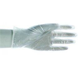 "Boss / Cat Gloves - 1UP1205-DM - Med. Powdered 10"" Disposable Vinyl Gloves Seam, Ea"