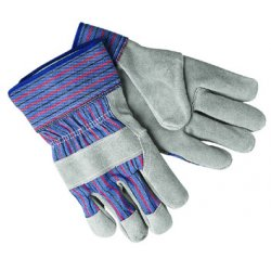 Memphis Glove - 127-1311 - Select Shoulder Split Cow Gloves, Blue/Gray, Large, 12 Pairs