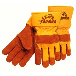 "Memphis Glove - 1680 - Bronco Side Leather Palmgloves 2-1/2"" Safe"