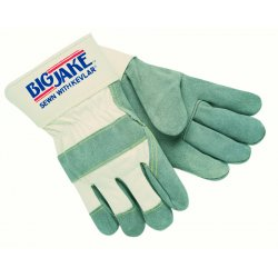 Memphis Glove - 1700S - Cowhide Leather Palm Gloves with Safety Cuff, White, S