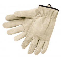 Memphis Glove - 3100S - Split Leather Cream Color Elastic Bac