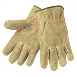 Memphis Glove - 3110L - Split Leather Russet Color Elastic Bac