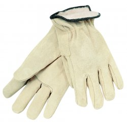 Memphis Glove - 3150M - Red Fleece Lined Splitleather Glove Cream