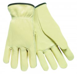 Memphis Glove - 127-3200XL - Full Leather Cow Grain Driver Gloves, Tan, X-Large, 12 Pairs