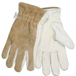 Memphis Glove - 3204KXL - Cow Grain Drvr/split Back Kevlar Lined X