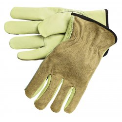 Memphis Glove - 3205XL - Cowhide Leather Driver's Gloves with Shirred Cuff, Cream, XL