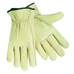 Memphis Glove - 3211L - Cowhide Leather Driver's Gloves with Shirred Cuff, Cream, L