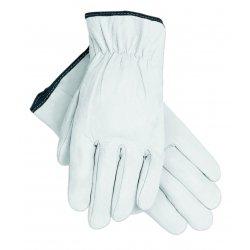 Memphis Glove - 127-3601M - Grain Goatskin Driver Gloves, White, Medium, 12 Pairs