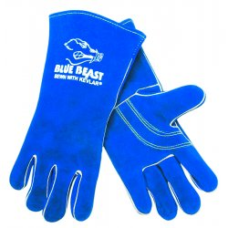 "Memphis Glove - 4600 - 13"" Blue Beast Welders Gloves Reinforced"