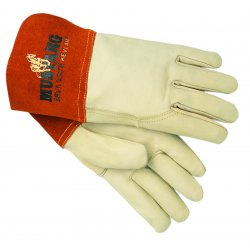 Memphis Glove - 127-4950L - Mustang MIG/TIG Leather Welding Gloves, White/Russet, Large, 12 Pairs