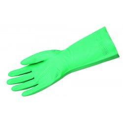 Memphis Glove - 5338S - Nitrile Chemical Resistant Gloves, 18 mil Thickness, Flock Lining, Size M, Green, PR 1