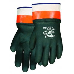 Memphis Glove - 6410SC - PVC Chemical Resistant Gloves, Jersey Lining, Size L, Green/Orange, PR 1