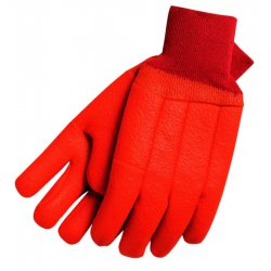 Memphis Glove - 6710T - Tan Foam Lined Pvc Gloves Safety Cuff