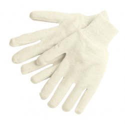 Memphis Glove - 8000I - Memphis Glove Large Natural 7 Ounce Cotton Jersey Reversible Work Gloves With Knit Wrist