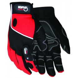 Memphis Glove - 924M - Multi-task Red Spandex-synthetic Leather- With