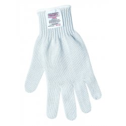 Memphis Glove - 9350M - Memphis Glove Medium White Steelcore II 7 gauge Regular Weight Stainless Steel And Polyester Yarn Cut Resistant Gloves With Knit Wrist