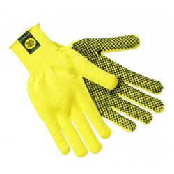 Memphis Glove - 9365L - PVC Cut Resistant Gloves, ANSI/ISEA Cut Level 3, Kevlar® Lining, Yellow/Black, L, PK 12