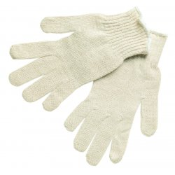 Memphis Glove - 9636LM - Large Cotton/polyester Natural String Knit Glove