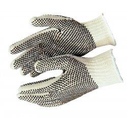 Memphis Glove - 9650LM - Large Cotton/polester Natural Pvc Dots/1 Side