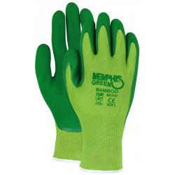 Memphis Glove - 96731GL - Memphis Large 13 Gauge Green Foam Latex Palm And Finger Coated Work Gloves With Seamless Liner And Knit Wrist