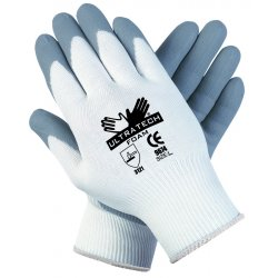 Memphis Glove - 9674L - 15 Gauge Foam Nitrile Coated Gloves, Size L, Gray/White
