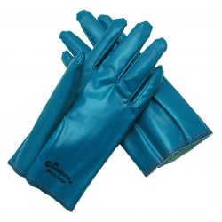 Memphis Glove - 9700M - Memphis Medium The Consolidator Chemical Splash And Abrasion Resistant Blue Nitrile Palm Coated Work Gloves With Interlock Cotton Liner And Slip-On Cuff