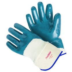 Memphis Glove - 9750 - Memphis Large Predator Cut Resistant Blue Nitrile Dipped Palm And 3/4 Back Coated Work Gloves With Jersey Liner And Knit Wrist