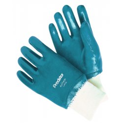 Memphis Glove - 9761 - Memphis Large Predator Cut Resistant Blue Nitrile Dipped Fully Coated Work Gloves With Jersey Liner And Safety Cuff