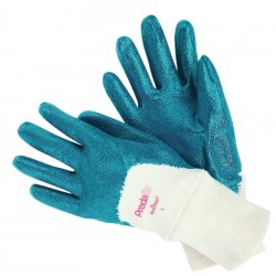 Memphis Glove - 9780L - Memphis Large Predalite Light Weight Blue Nitrile Dipped Palm Coated Work Gloves With Interlock Liner And Knit Wrist